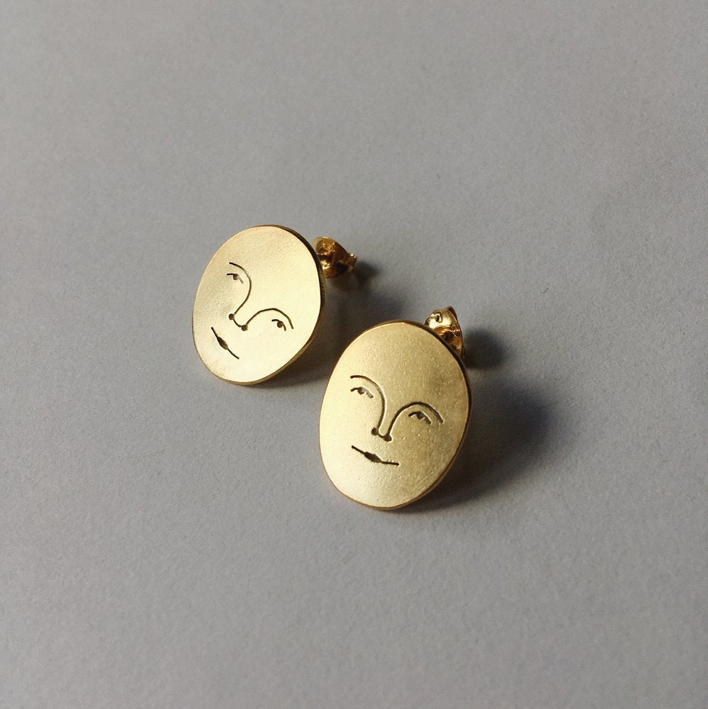 Polly Collins - Sun Face Studs