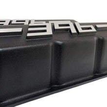 Load image into Gallery viewer, ansen big block chevy valve covers 396 black, close up view