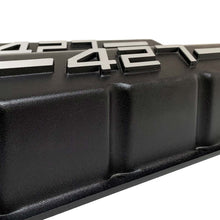 Load image into Gallery viewer, ansen big block chevy valve covers 427 black, close up view