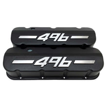Load image into Gallery viewer, ansen big block chevy valve covers 496 black, front view