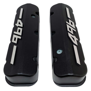 ansen big block chevy valve covers 496 black, top view