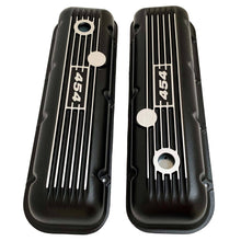 Load image into Gallery viewer, ansen custom engraving, big block chevy 454 valve covers, black, top view