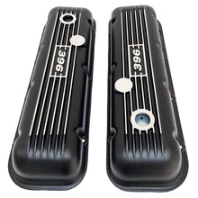 Load image into Gallery viewer, big block chevy classic valve covers, 396, black, ansen usa, top view
