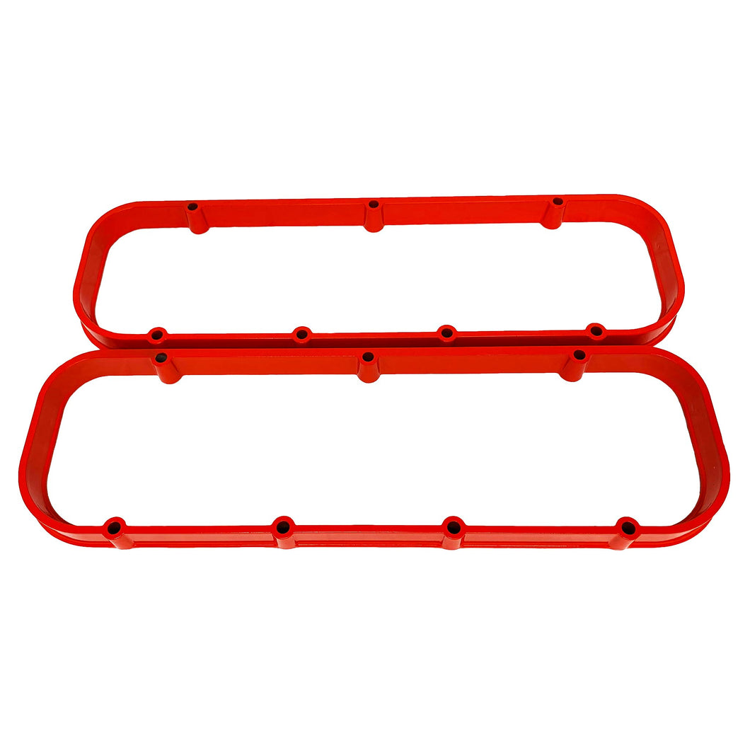 ansen valve cover spacers, chevy big block, orange powder coat