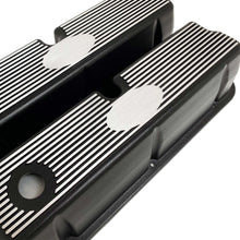 Load image into Gallery viewer, ansen custom engraving, ford 289 302 351 windsor custom valve covers, black, angled view