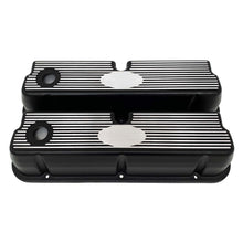 Load image into Gallery viewer, ansen custom engraving, ford 289 302 351 windsor custom valve covers, black, front view