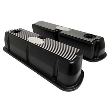 Load image into Gallery viewer, ansen custom engraving, ford 289 302 351 windsor custom valve covers, black, side profile view