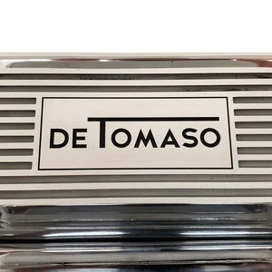 ansen custom engraving, ford de tomaso pantera 351 cleveland valve covers polished, close up view