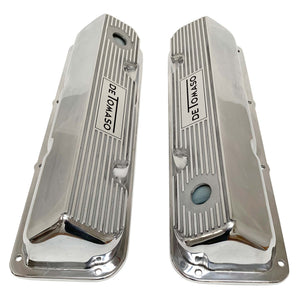 ansen custom engraving, ford de tomaso pantera 351 cleveland valve covers polished, top view