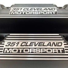 Load image into Gallery viewer, ansen custom engraving, ford 351 motorsport valve covers, black, close up view
