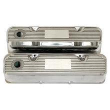 Load image into Gallery viewer, ansen custom valve covers, ford, 351 cleveland, polished, front view