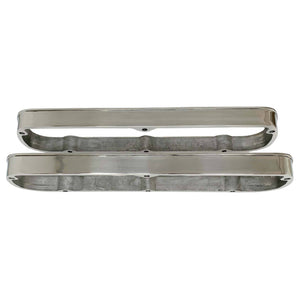 ansen valve cover spacers, ford, 289, polished, close up view