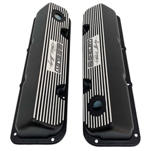 Load image into Gallery viewer, ansen custom engraving, ford carroll shelby signature valve covers, black, top view