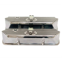 Load image into Gallery viewer, ansen valve covers, ford, fe 427, tall, american eagle, laser engraved, polished, front view