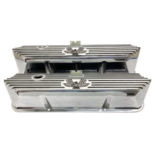 Load image into Gallery viewer, ansen valve covers, ford, fe 428, american eagle, laser engraved, polished, front view