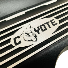 Load image into Gallery viewer, ansen custom engraving, ford mustang coil covers, black, close up view