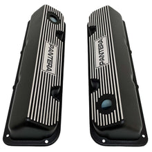 Load image into Gallery viewer, ansen custom engraving, de tomaso pantera valve covers, ford 351 cleveland, black, top view