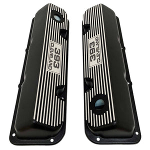 ford 393 cleveland valve covers, black, ansen usa, top view