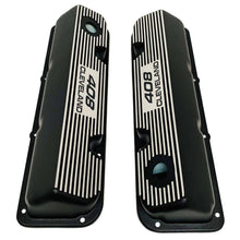 Load image into Gallery viewer, ansen valve covers, ford, 408 cleveland, black powder coat, top view