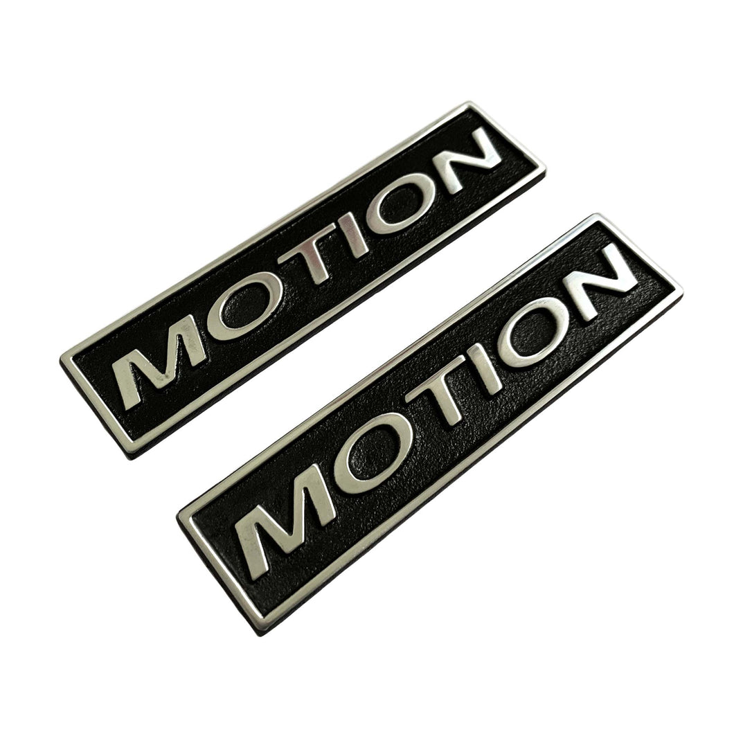 baldwin motion emblem set, angled view