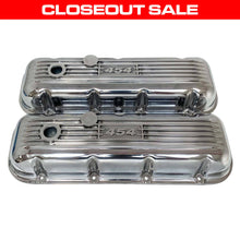 Load image into Gallery viewer, ansen custom engraving, big block chevy 454 valve covers, polished, front view