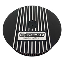 Load image into Gallery viewer, ansen custom engraving, ford carroll shelby signature air cleaner lid, black, front view