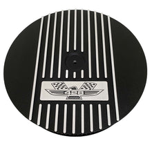 Load image into Gallery viewer, ansen custom engraving, ford fe 428 american eagle air cleaner kit 15 inch round, black, front view