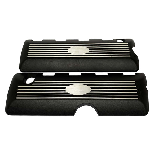 ansen coil covers, 2011-17, ford mustang, gt 5.0, gt350, 5.0l coyote cammer style coil cover, black powder coat, front view