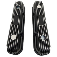 Load image into Gallery viewer, Mopar Performance 318, 340, 360 Valve Covers Finned Black