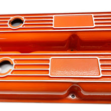 Load image into Gallery viewer, Mopar Performance 318, 340, 360 Valve Covers Finned Orange