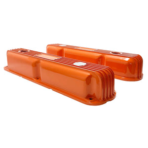 Mopar Performance 318, 340, 360 Valve Covers Finned Orange