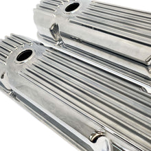Load image into Gallery viewer, ansen valve covers, pontiac, cal custom, polished, close up view