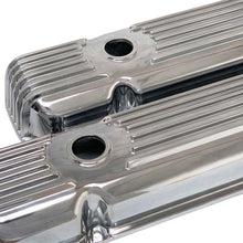 Load image into Gallery viewer, ansen valve covers, pontiac, cal custom, polished, angled view