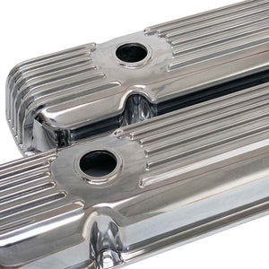 ansen valve covers, pontiac, cal custom, polished, angled view