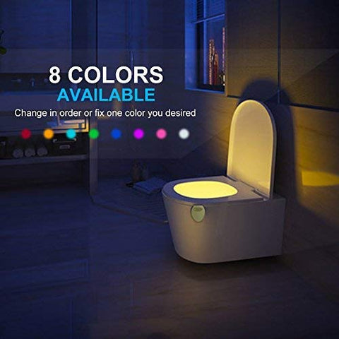 Motion-Activated LED Toilet Light