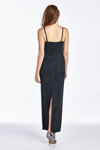 Women's Spaghetti Strap Shimmer Maxi Dress