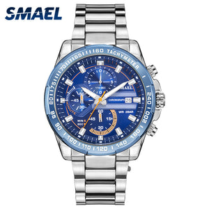 11.4 Fans Seckill SMAEL Men  Date Wristwatch Casual Fashion Top Luxury Brand Stainless Steel SL-9089Quartz Watches Reloj