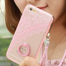 Load image into Gallery viewer, Ring Holder Lace Case For iPhone