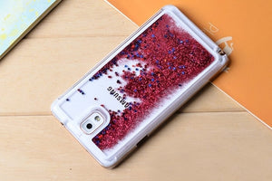 Red Liquid Quicksand Case For Samsung