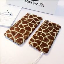 Load image into Gallery viewer, Plush Giraffe Pattern iPhone Case