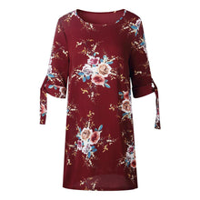 Load image into Gallery viewer, Summer Floral Women Dress Plus Size Female Flower