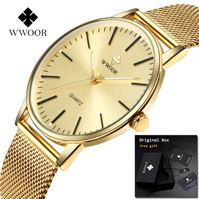 2018 WWOOR Relogio Masculino Mens watches Top Brand Luxury