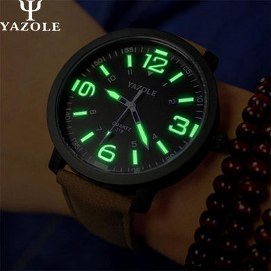 2018 YAZOLE Big Dial Men Watches Top Luxury Brand Luminous Quartz