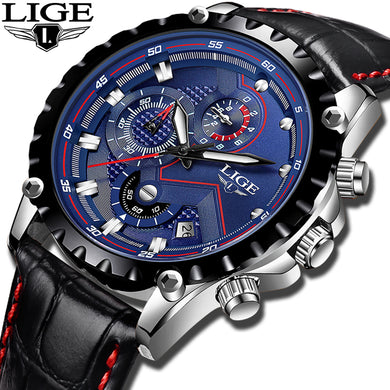 2018New LIGE Mens Watches Top Brand Luxury Military Sport Watch Men Casual
