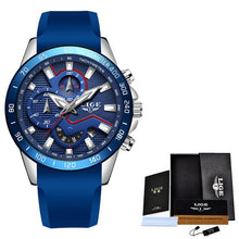 Load image into Gallery viewer, 2019 Fashion Blue Watches Mens Top Luxury Brand LIGE Military Waterproof Quartz Gold Clock Man Chronograph Relogio Masculino+Box