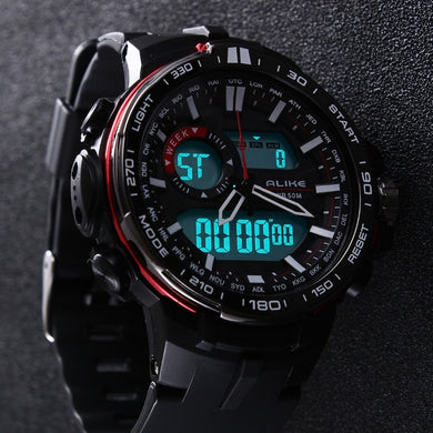 2019 New Brand ALIKE Casual Watch Men G Style Waterproof Sports Military Watches Shock Men's Luxury Analog Digital Quartz Watch