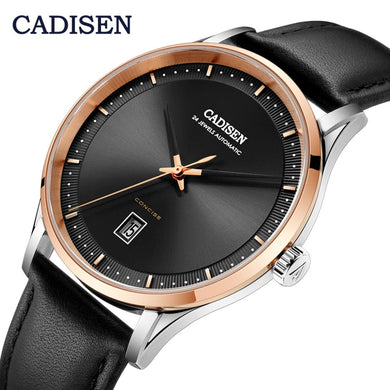 2019 New CADISEN Men's watches top brand luxury wristwatch men automatic mechanical waterproof watch men NH35A relogio masculino