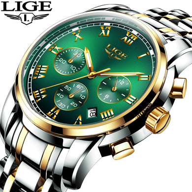 2019 New LIGE Mens Watches Top Brand Luxury 30m Waterproof Date Clock Male Sports Watch Men Quartz Wrist Watch Relogio Masculino