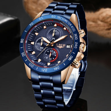 2019 New LIGE Top Brand Luxury Mens Watches 30m Waterproof Date Clock Male Sports Watch Men Quartz Wrist Watch Relogio Masculino