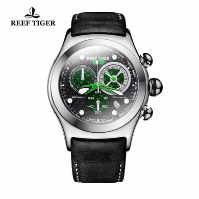 2019 New Reef Tiger/RT Mens Military Watches Men's Skeleton 316L Steel Quartz Watches RGA782